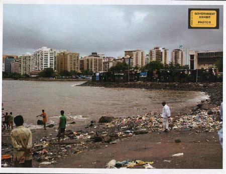 The landing site that U.S. citizen David Headley located for the Pakistani militants who carried out the 2008 assault on Mumbai, is seen in this undated handout photo provided by the U.S. Attorney's office. REUTERS/U.S. Attorney's Office/Handout