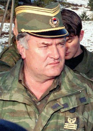 Former Bosnian Serb army commander and top war crimes fugitive Ratko Mladic is seen on Mountain Vlasic in this April 1995 file photo. REUTERS/Ranko Cukovic/Files
