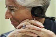 <p>France's Finance Minister Christine Lagarde attends a news conference in Brasilia May 29, 2011. REUTERS/Ueslei Marcelino</p>
