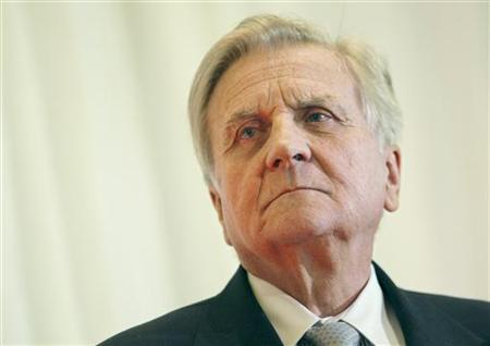 Jean-Claude Trichet, president of the European Central Bank, listens to a question following his speech at the Stanford Institute for Economic Policy Research at Stanford University in Palo Alto, California March 12, 2010. REUTERS/Robert Galbraith