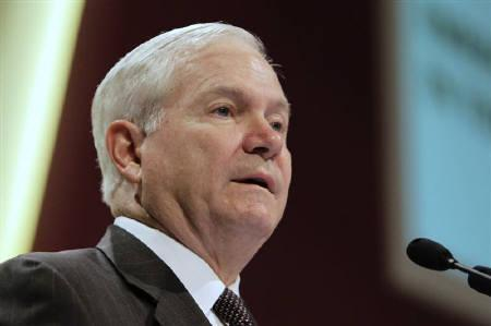 U.S. Secretary of Defense Robert Gates speaks during a plenary session at the 10th International Institute of Strategic Studies (IISS) Asia Security Summit: The Shangri-La Dialogue in Singapore June 4, 2011. REUTERS/Tim Chong