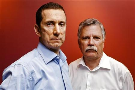 i4i Chairman Loudon F. McLean Owen (L) and Chief Technology Officer and Founder Michel Vulpe pose for a portrait in Toronto, July 13, 2010. REUTERS/Mark Blinch