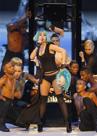 U.S. singer Lady Gaga performs during the final of the TV show 'Germany's next top model by Heidi Klum' in Cologne June 9, 2011. REUTERS/Wolfgang Rattay