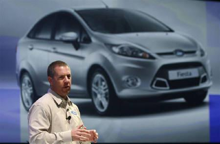 Joe Hinrichs, Ford President of Asia Pacific and Africa, speaks during a news conference at a hotel in Bangkok March 23, 2011. REUTERS/Chaiwat Subprasom/Files