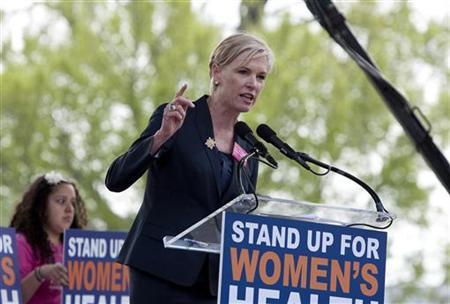 Cecile Richards, president of Planned Parenthood Federation of America, speaks at a ''Stand Up for Women's Health'' rally held by more than 20 organizations in supporting preventive health care and family planning services, including abortion in Washington April 7, 2011. REUTERS/Joshua Roberts