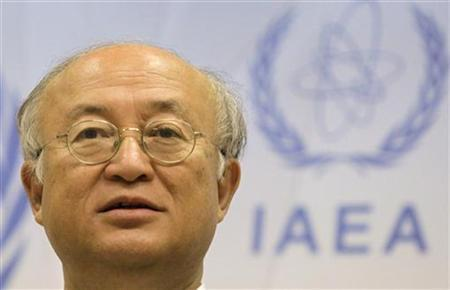 International Atomic Energy Agency (IAEA) Director General Yukiya Amano attends a news conference during the Ministerial Conference on Nuclear Safety in Vienna in Vienna June 20, 2011. REUTERS/Herwig Prammer