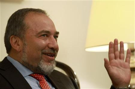 Israel's Foreign Minister Avigdor Lieberman speaks during a meeting with his Croatian counterpart Gordan Jandrokovic in Zagreb June 27, 2011. REUTERS/Nikola Solic