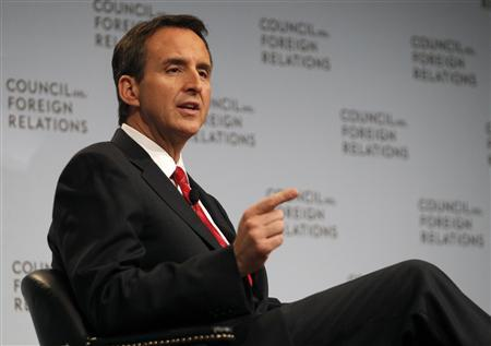 Former Minnesota Governor and candidate for the 2012 Republican Presidential Nomination Tim Pawlenty speaks during a question and answer session at the Council on Foreign Relations in New York, June 28, 2011. REUTERS/Mike Segar