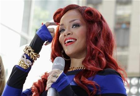 Singer Rihanna performs on NBC's 'Today' show in New York, May 27, 2011. REUTERS/Brendan McDermid