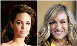 Angelina Jolie (e) e Sarah Jessica Parker em foto combinada. As duas, com salários anuais de 30 milhões de dólares cada, são as atrizes mais bem pagas de Hollywood, segundo um novo ranking. 06/07/2011 REUTERS/Lucas Jackson