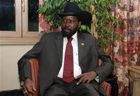 South Sudan's President Salva Kiir sits at a waiting area before meeting U.S. Secretary of State Hillary Clinton at the Sheraton Hotel in Ethiopia's capital Addis Ababa, June 13, 2011. REUTERS/Stringer