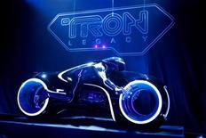 "<p>A light cycle prop is seen at the world premiere of ""TRON: Legacy"" in Hollywood, California, December 11, 2010. REUTERS/Danny Moloshok</p>"
