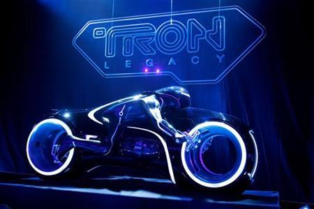 A light cycle prop is seen at the world premiere of ''TRON: Legacy'' in Hollywood, California, December 11, 2010. REUTERS/Danny Moloshok