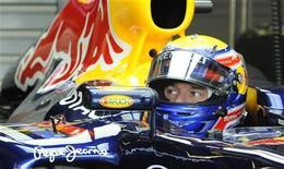 O piloto australiano Mark Webber, da Red Bull, no primeiro treino livre para o GP da Grã-Bretanha de Fórmula 1. 08/072011 REUTERS/Nigel Roddis