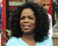 Oprah Winfrey, uma das principais opções para apresentar o Oscar, fala com jornalistas durante conferência em Sun Valley, Idaho. 7/7/2011. REUTERS/Anthony Bolante