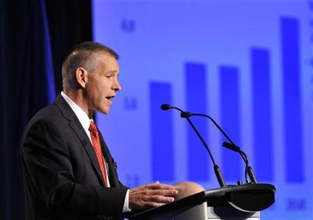 Russ Girling president and CEO of TransCanada addresses shareholders at the company's annual general meeting in Calgary, Alberta, April 29, 2011. REUTERS/Todd Korol