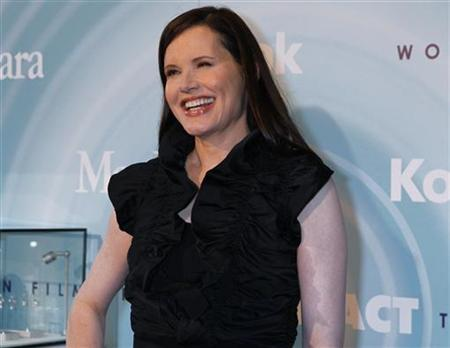Actress Geena Davis arrives at the Women In Film Los Angeles 2011 Crystal and Lucy Awards Impact in Beverly Hills, California, June 16, 2011. REUTERS/Fred Prouser