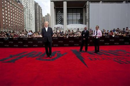Cast member Alan Rickman arrives for the premiere of the film ''Harry Potter and the Deathly Hallows: Part 2'' in New York July 11, 2011. REUTERS/Lucas Jackson