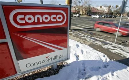 A Conoco Phillips gas station in Boulder, Colorado January 24, 2007. REUTERS/Rick Wilking (UNITED STATES)