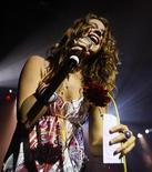 Cantora britânica Joss Stone durante apresentação no parque Luna, em Buenos Aires, em 2008. Dois homens apareceram diante de um tribunal nesta sexta-feira por supostamente planejar um ataque contra a cantora britânica Joss Stone. 11/06/2008  REUTERS/Marcos Brindicci