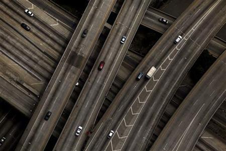 The 10/110 freeway interchange is seen in Los Angeles, July 16, 2011. REUTERS/Eric Thayer