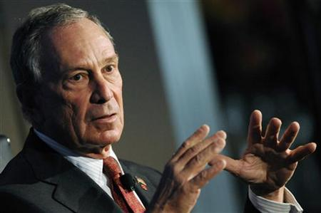 New York City Mayor Michael Bloomberg gestures as he speaks during the 2010 meeting of the Wall Street Journal CEO Council in Washington, November 16, 2010. REUTERS/Jonathan Ernst