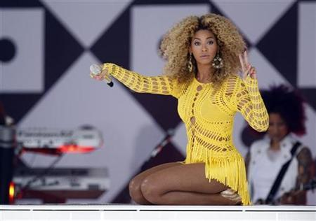 Beyonce performs in Central Park during ABC's 'Good Morning America' in New York July 1, 2011. REUTERS/Lucas Jackson