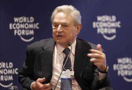 George Soros, Chairman of Soros Fund Management attends a session at the World Economic Forum (WEF) in Davos January 27, 2010.    REUTERS/Michael Buholzer/Files
