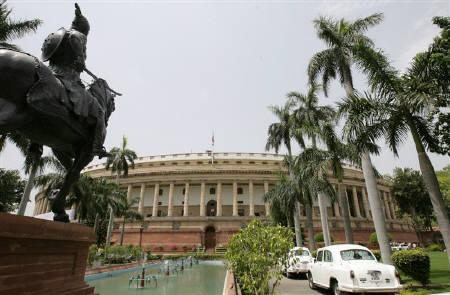 A view of Parliament building is seen on its opening day in New Delhi June 1, 2009. REUTERS/B Mathur/Files