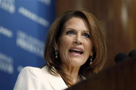 Republican Presidential candidate Michele Bachmann speaks at a National Press Club luncheon in Washington, July 28, 2011. REUTERS/Jason Reed