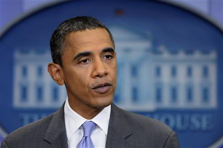 U.S. President Barack Obama delivers remarks on the debt ceiling crisis in the briefing room at the White House in Washington July 31, 2011. REUTERS/Jonathan Ernst