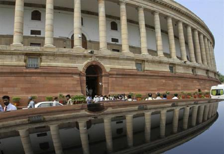 A view of the Indian parliament building is seen on the opening day of the monsoon session in New Delhi August 1, 2011. REUTERS/B Mathur/Files