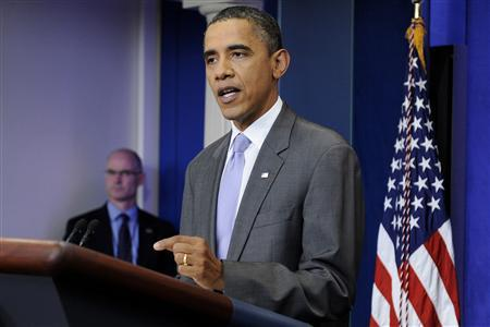 U.S. President Barack Obama talks about the debt ceiling crisis in the briefing room at the White House in Washington July 31, 2011. REUTERS/Jonathan Ernst