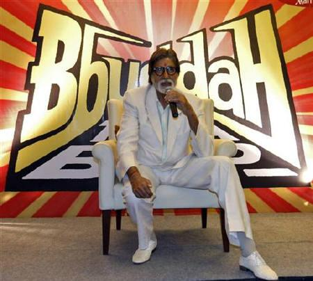 Bollywood actor Amitabh Bachchan speaks during a news conference to promote his latest movie ''Bbuddah Hoga Terra Baap'' in Ahmedabad July 7, 2011.  REUTERS/Amit Dave/Files