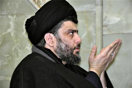 Anti-U.S. Shi'ite cleric Moqtada al-Sadr prays during his visit to the holy shrine of Imam Hussein in Kerbala, 110 km (70 miles) south of Baghdad January 9, 2011. REUTERS/Stringer