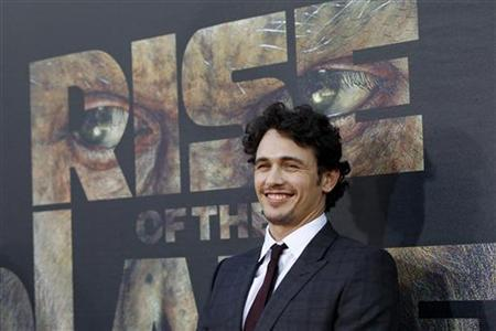 Cast member James Franco poses at the premiere of ''Rise of the Planet of the Apes'' at the Grauman's Chinese theatre in Hollywood, California July 28, 2011. REUTERS/Mario Anzuoni