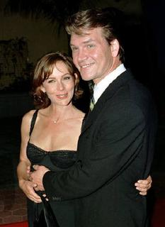 Late actor Patrick Swayze and co-star Jennifer Grey pose together as they arrive for a special screening of ''Dirty Dancing'' honouring the film's tenth anniversary in Los Angeles August 20, 1997. REUTERS/Fred Prouser/Files