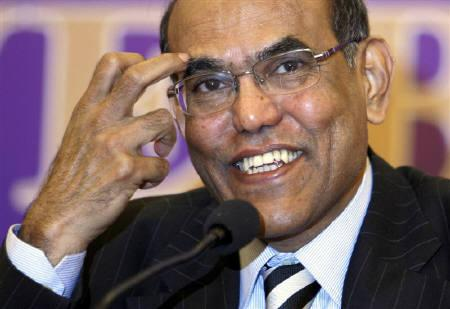 RBI governor Duvvuri Subbarao smiles during a news conference in Bhopal February 10, 2011. REUTERS/Raj Patidar/Files