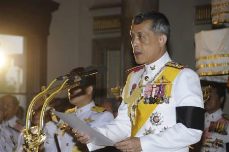 Thailand's Crown Prince Maha Vajiralongkorn reads a statement at the opening ceremony of the first session of Thailand's new parliament at the Ananta Samakhom Throne Hall in Bangkok August 1, 2011. REUTERS/Royal Palace/Handout
