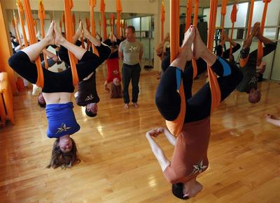 ''Antigravity'' yoga