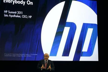 HP CEO Leo Apotheker delivers the keynote address at the HP Summit in San Francisco, California March 14, 2011. REUTERS/Stephen Lam