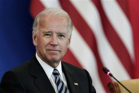 U.S. Vice President Joe Biden attends a discussion with U.S. and Chinese business leaders at Beijing Hotel in Beijing August 19, 2011. REUTERS/Lintao Zhang/Pool