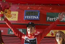 Ciclista dinamarquês Jakob Fuglsang, na Volta da Espanha, em Benidorm, 20 de agosto de 2011. REUTERS/Miguel Vidal (SPAIN - Tags: SPORT CYCLING)