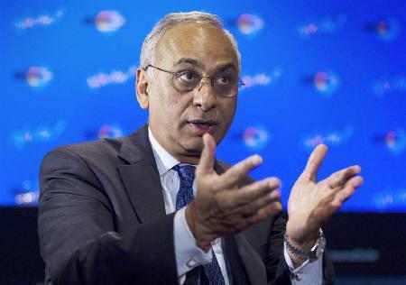 Standard & Poor's President Deven Sharma speaks during an interview at the International Economic Forum of the Americas in Montreal, Quebec, June 9, 2010. REUTERS/Christinne Muschi