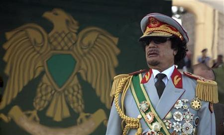 Libya's leader Muammar Gaddafi attends a celebration of the 40th anniversary of his coming to power at the Green Square in Tripoli September 1, 2009. REUTERS/Zohra Bensemra