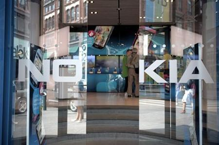 General view of the Nokia flagship store in Helsinki in this July 18, 2011 file photo. REUTERS/Jussi Helttunen/Lehitikuva