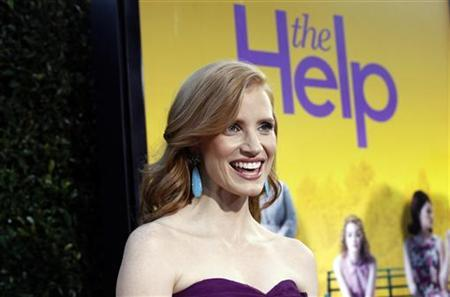 Cast member Jessica Chastain poses at the premiere of the movie ''The Help'' at the Samuel Goldwyn Theatre in Beverly Hills, California August 9, 2011. REUTERS/Mario Anzuoni