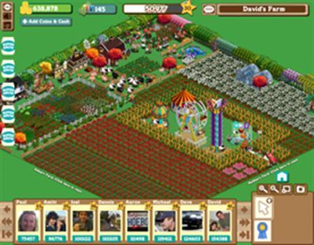 An in-game screen of Farmville is seen in a handout photo. REUTERS/Zynga/Handout