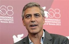 "George Clooney divulga seu filme ""The Ides of March"" na abertura do Festival de Cinema de Veneza. 31/08/2011 REUTERS/Alessandro Bianchi"