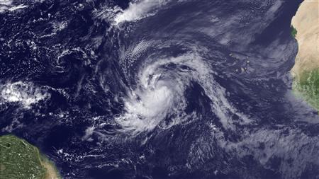 Tropical Storm Katia in a satellite image taken August 30, 2011. REUTERS/NOAA